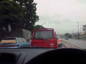 jammed n rain n running out of petrol