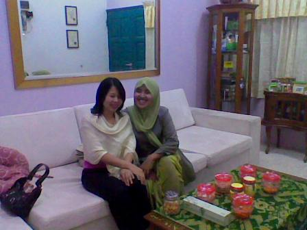 aya n me again at kak mala's ouse